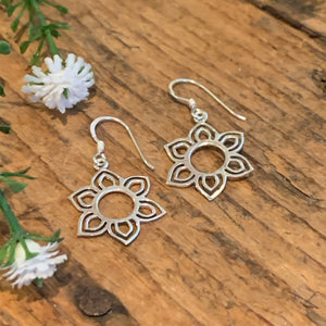 Six Petal Flower Earrings - Apothecary Gift Shop