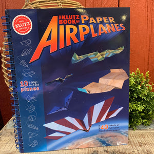 Book of Paper Airplanes by Klutz - Apothecary Gift Shop