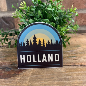 Holland Tree Sunrise Sticker