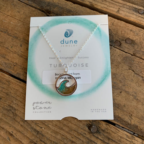 Beach Sand and Turquoise Wave Necklace by Dune Jewelry - Apothecary Gift Shop