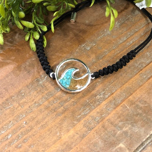 Turquoise and Beach Sand Adjustable Bracelet by Dune Jewelry - Apothecary Gift Shop