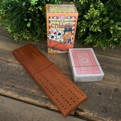 Folding Wooden Cribbage - Apothecary Gift Shop