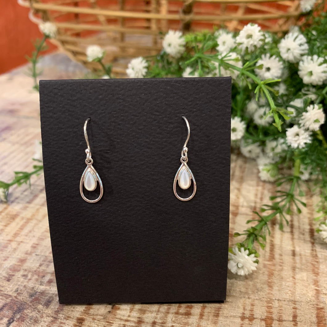 Small Teardrop With Mother of Pearl Earrings