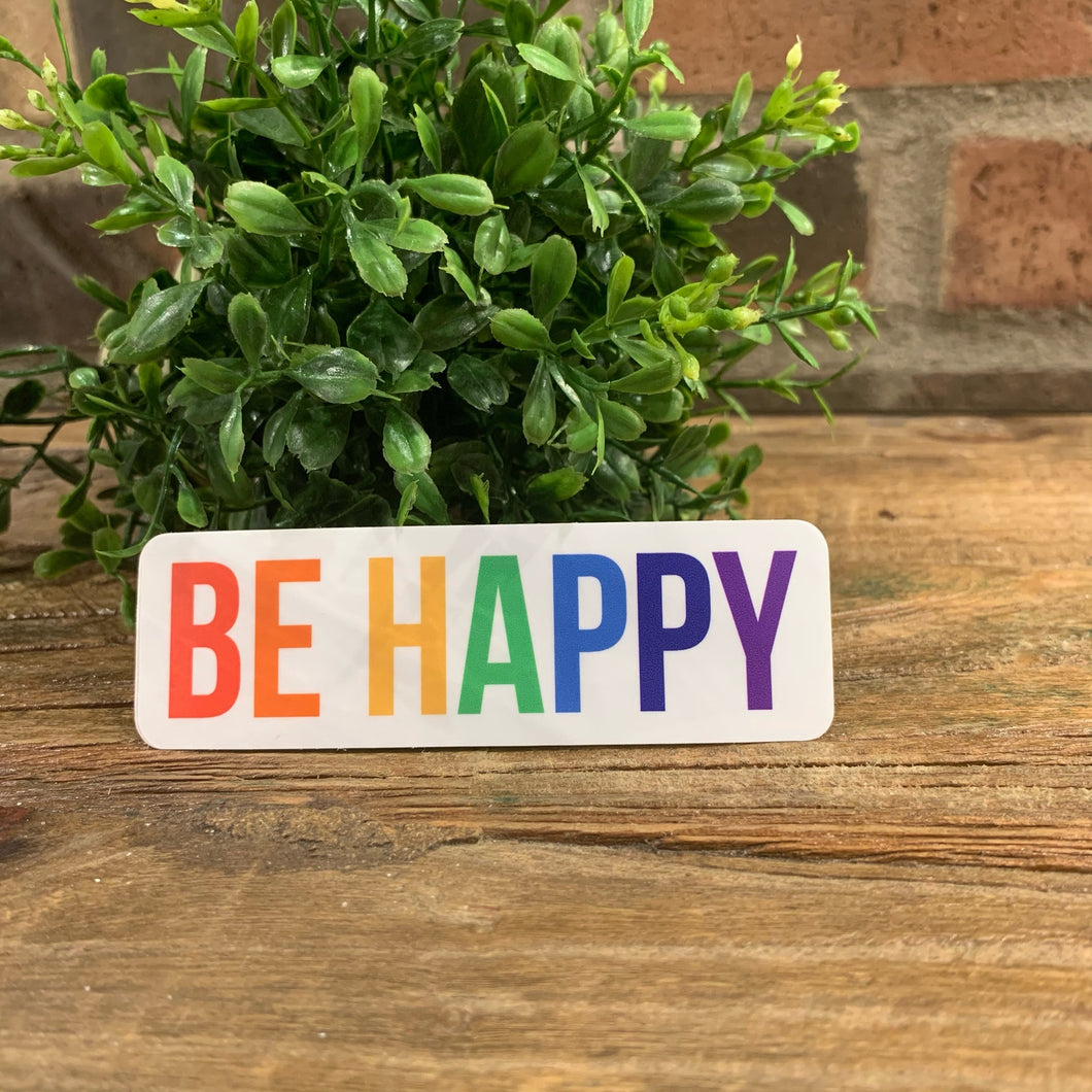 Rainbow Be Happy Sticker