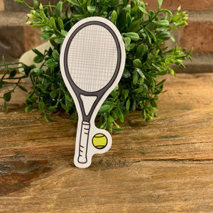 Tennis Racquet Sketch Sticker