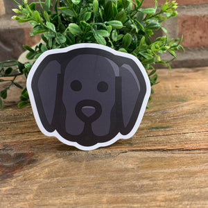 Black Lab Face Sticker