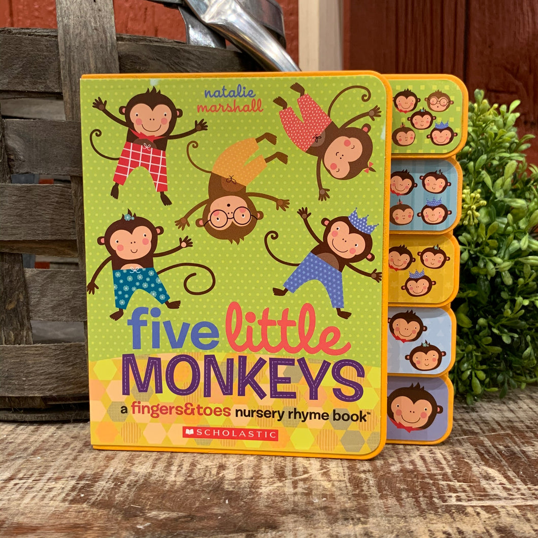 Five Little Monkeys Nursery Rhyme Board Book
