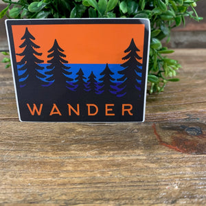 Wander Trees Sticker
