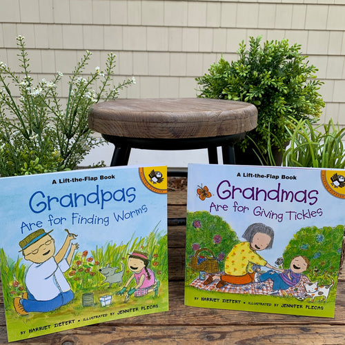 Grandmas Are For Giving Tickles and Grandpas Are For Finding Worms Book - Apothecary Gift Shop