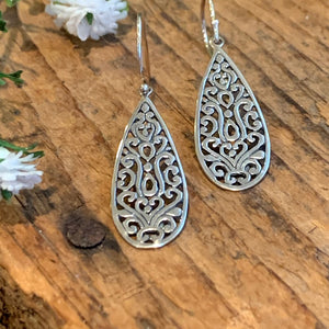 Lacework Teardrop Earrings - Apothecary Gift Shop