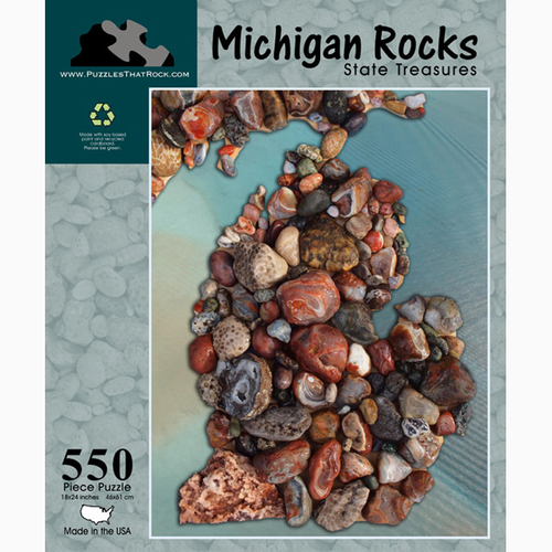 Michigan Rocks Puzzle - Apothecary Gift Shop