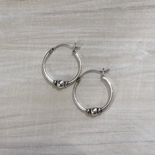 Load image into Gallery viewer, Sterling Silver Bali Hoop - Apothecary Gift Shop