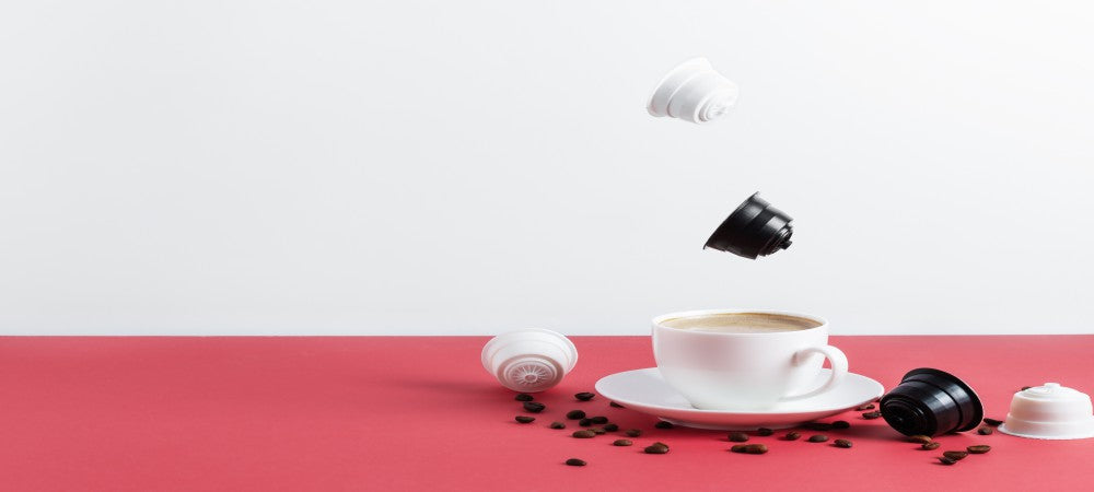 Coffee pods with cup