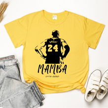 Load image into Gallery viewer, Kobe Memorial MAMBA Short Sleeve Women's Casual T-Shirts