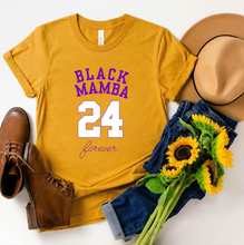 Load image into Gallery viewer, Kobe Memorial BLACK MAMBA 24 Short Sleeve Women's Casual T-Shirts