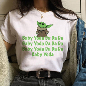 Baby Yoda Mandalorian T Shirt Men/women Harajuku Star Wars T-shirt moive graphic tees men unisex Tshirt Male 80s Top