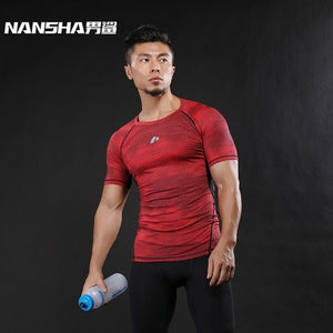 Mens Fitness 3D Prints Short Sleeves T