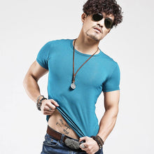 Load image into Gallery viewer, 2019 Brand New Men T Shirt Tops V neck Short Sleeve Tees Men's Fashion Fitness Hot T-shirt For Male Free Shipping Size 5XL