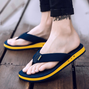 XMISTUO Summer Tide Slippers  Non-slip Cool Flip-Flops Breathable Thick-soled Sandals Slippers Toe Sandals