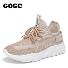 Load image into Gallery viewer, GOGC Summer Woman Sneakers mesh Shoes Female platform Lace Up Causal Shoe for Women basket femme Women Flat Shoe 691