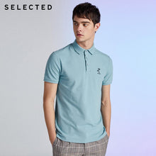 Load image into Gallery viewer, SELECTED Men's Pure Color Turn-down Collar Short-sleeved Polo S|419206535