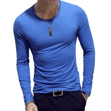 Load image into Gallery viewer, 2020 Spring Men T-Shirts Long Sleeve O-Neck Casual Fitness Jogging Solid Fashion Tee Basic Running Homme Top Clothing