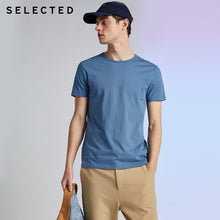 Load image into Gallery viewer, SELECTED Men's Summer 100% Cotton Pure Color Round Neckline Short-sleeved T-shirt S|419201508