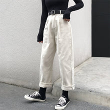 Load image into Gallery viewer, Alien Kitty Loose High Waist Thin Pants Women 2019 Spring Autumn Femme Fashion Simple Casual Solid Pants Girls  All-Match Fresh