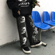 Load image into Gallery viewer, NiceMix Elastic Waistband Loose Harem Embroidery Tie Dye Contrast Jogger Pant Women Man Streetwear Korean Harajuku Punk Hip Hop