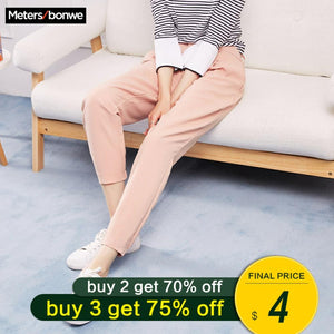 Metersbonwe New Casual Pants For Women Trousers Woman High Quality Office Lady Pants Slim fit simple All-match Beam feet Pants