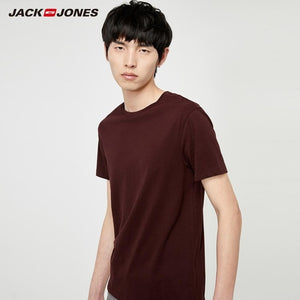 JackJones Men's Cotton T-shirt Solid Color Ice Cool Touch Fabric Men's Top Fashion t shirt 2019 Brand New Menswear 220101546