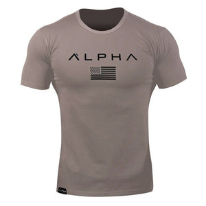 Men Short sleeve Cotton T-shirt Casual Black Print t shirt Gym Fitness Bodybuilding Workout Tees Tops Male Summer Brand Clothing