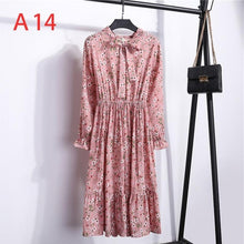 Load image into Gallery viewer, Korean Black Shirt Vestidos Office Polka Dot Vintage Autumn Dresses Women Dresss Pring 2020 Midi Floral Long Sleeve Dress Female