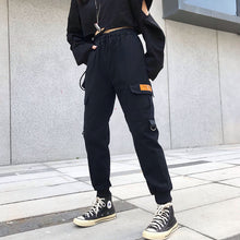 Load image into Gallery viewer, Hot Big Pockets Cargo pants women High Waist Loose Streetwear pants Baggy Tactical Trouser hip hop high quality joggers pants