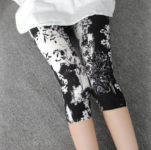 YRRETY 2020 Women High Quality Capris High Waisted Floral Printing Pants Lady's Fitness Leggings Seventh Elastic Slim Leggings
