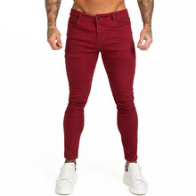 Load image into Gallery viewer, Gingtto Blue Jeans Slim Fit Super Skinny Jeans For Men Street Wear Hio Hop Ankle Tight Cut Closely To Body Big Size Stretch zm05
