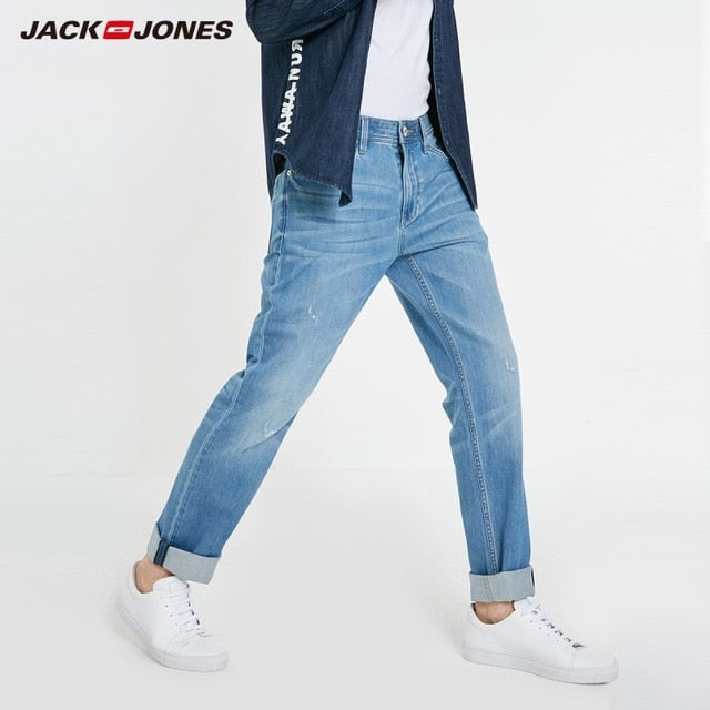 JackJones Men's Basic Distressed Stretch Cotton Jeans | 219132582