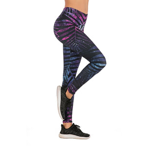 Brands Women Fashion Legging Fluorescent tree branch Printing leggins Slim High Waist Leggings Woman Pants
