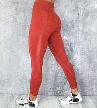 Load image into Gallery viewer, CHRLEISURE High Waist Pocket Leggings Solid Color Workout leggings Women Clothes 2019 Side Lace Leggins Mmujer