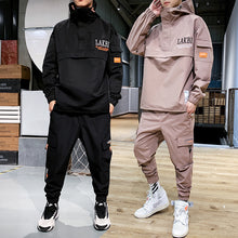 Load image into Gallery viewer, 2020 Workwear jacket men's Hooded Jacket+Pants 2PC Sets  baseball  loose Pullover coat & Long Pants Mens Clothing