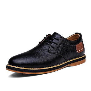 Men Oxfords Genuine Leather Dress Shoes Brogue Lace Up Mens Casual Shoes Luxury Brand Moccasins Loafers Men 2020 Plus Size 38-48