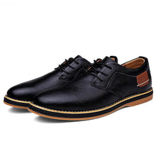 Load image into Gallery viewer, New Winter Men Shoes Genuine Leather Flat  Mens Shoes  Fashion High Quality Casual Lace Up Shoes Men Big Size 48 Office Shoes