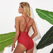 Lace Up One Piece - Lemonkini