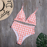 Plaid Print Bikini - Lemonkini