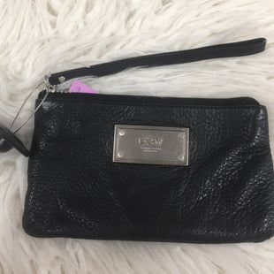 Primary Photo - BRAND: DKNY STYLE: WRISTLET COLOR: BLACK SKU: 242-24213-107671MEASURES 8 INCHES WIDE