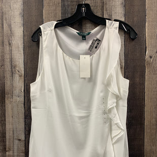 Primary Photo - BRAND: LAUREN BY RALPH LAUREN STYLE: TOP SLEEVELESS COLOR: WHITE SIZE: L SKU: 242-24211-7307
