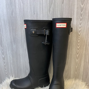 Primary Photo - BRAND: HUNTER STYLE: BOOTS RAIN COLOR: BLACK SIZE: 6 SKU: 242-24213-127863LIKE NEW CONDITION