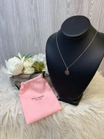 "Primary Photo - BRAND: KATE SPADE <BR>STYLE: NECKLACE <BR>COLOR: SILVER <BR>SKU: 242-24287-3228<BR><BR>""T"" INITIAL"