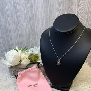 "Primary Photo - BRAND: KATE SPADE STYLE: NECKLACE COLOR: SILVER SKU: 242-24287-3228""T"" INITIAL"