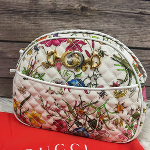 Primary Photo - BRAND: GUCCI STYLE: HANDBAG DESIGNER COLOR: MULTI SIZE: MEDIUM OTHER INFO: TRAPUNTATA SKU: 242-24213-118048TRAPUNTATA LIKE NEW CONDITION 8.5X6.5X223.5 INCH CROSSBODY STRAP. DOES COME WITH AUTHICATE CARD